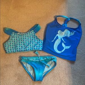 Girls Swimsuit - two tops, one bottom
